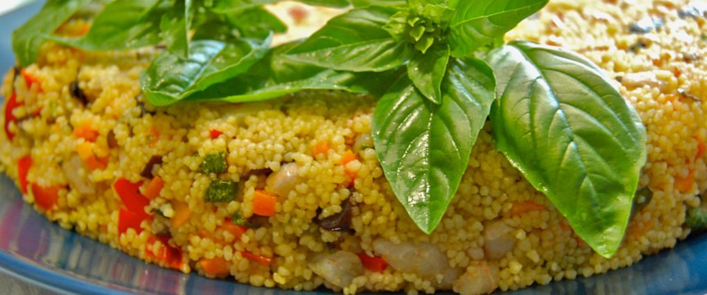 Cous cous con gamberetti e verdurine per tanti....