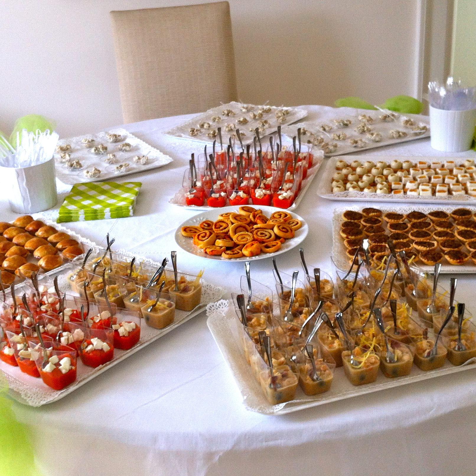 il buffet degli antipasti per la Prima Comunione di...